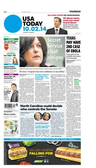 10/02/2014 Issue of USA TODAY