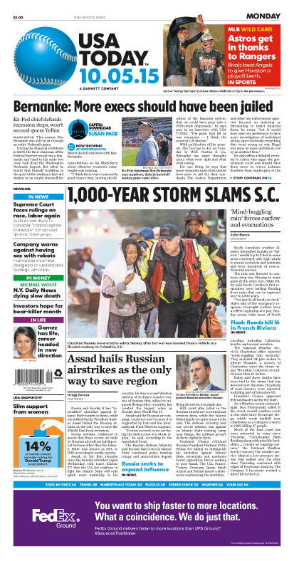 10/05/2015 Issue of USA TODAY