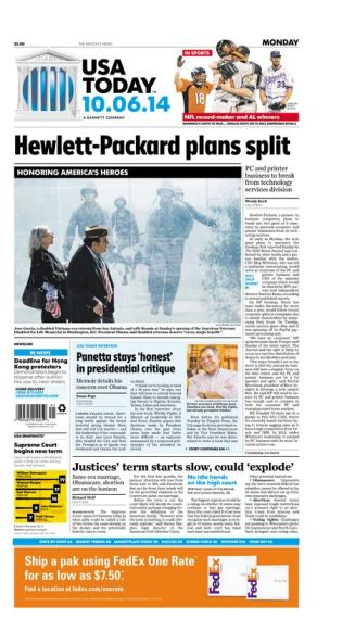 10/06/2014 Issue of USA TODAY
