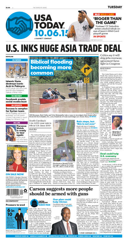 10/06/2015 Issue of USA TODAY