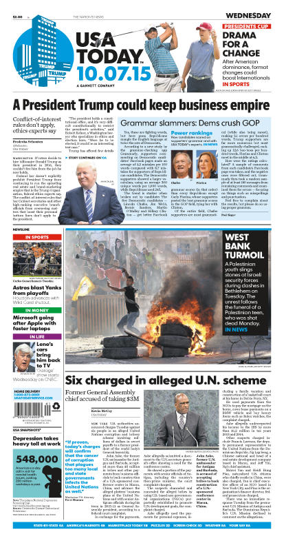 10/07/2015 Issue of USA TODAY