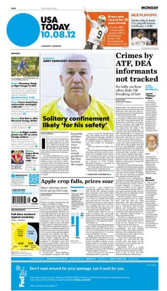 10/08/2012 Issue of USA TODAY