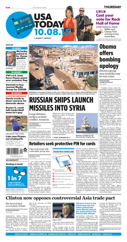 10/08/2015 Issue of USA TODAY