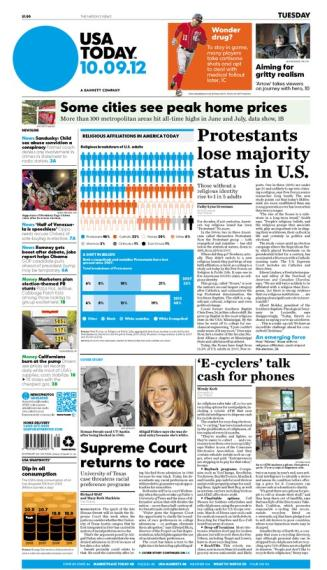 10/09/2012 Issue of USA TODAY