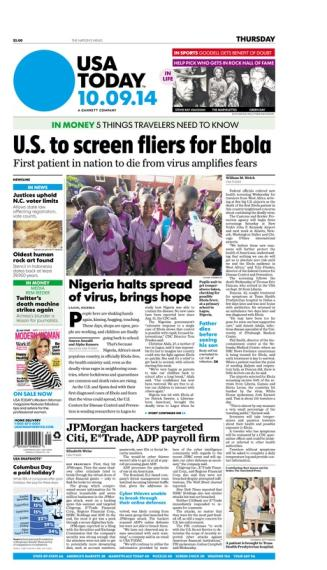 10/09/2014 Issue of USA TODAY