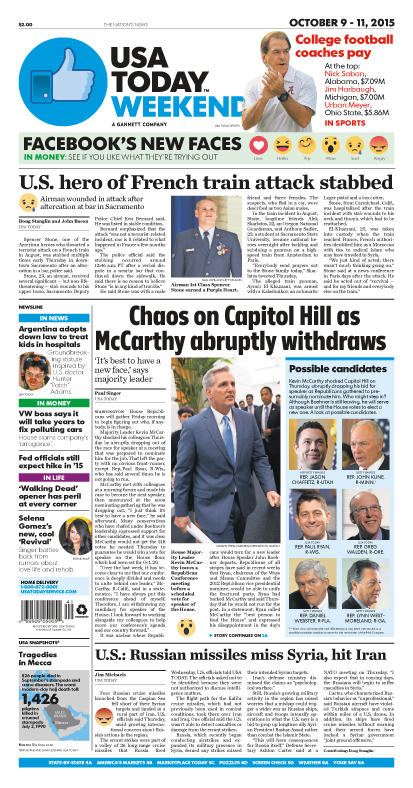 10/09/2015 Issue of USA TODAY