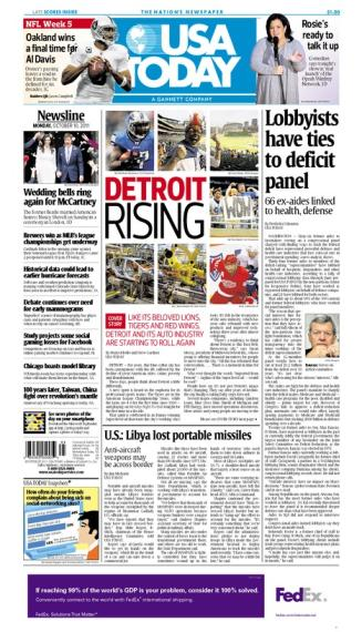 10/10/2011 Issue of USA TODAY