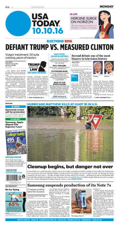 10/07/2016 Issue of USA TODAY MAIN