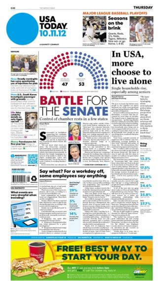 10/11/2012 Issue of USA TODAY
