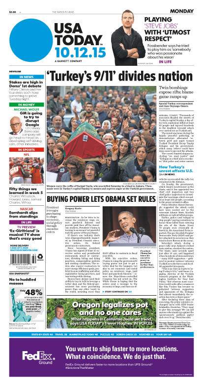 10/12/2015 Issue of USA TODAY