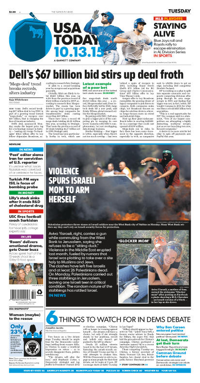 10/13/2015 Issue of USA TODAY