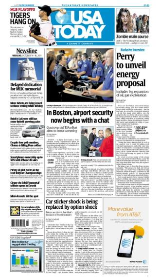 10/14/2011 Issue of USA TODAY
