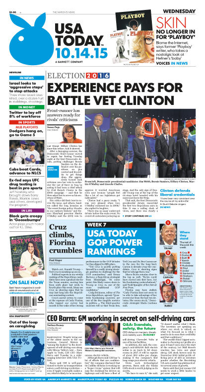 10/14/2015 Issue of USA TODAY