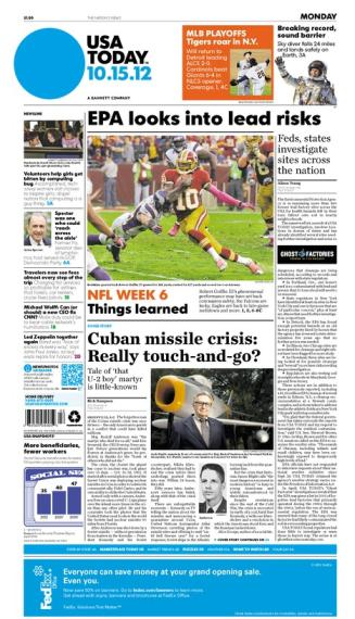 10/15/2012 Issue of USA TODAY