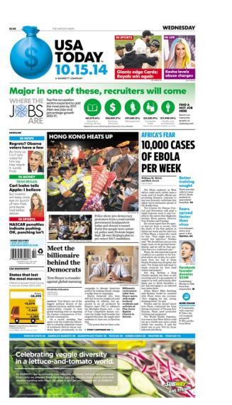 10/15/2014 Issue of USA TODAY