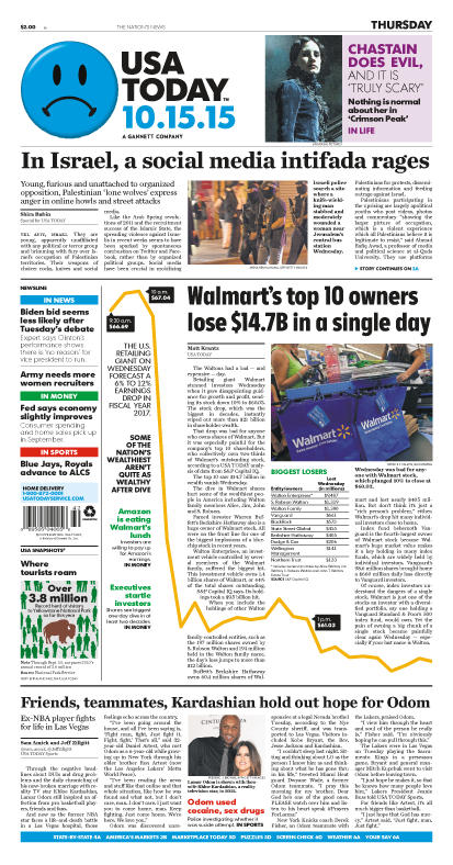 10/15/2015 Issue of USA TODAY