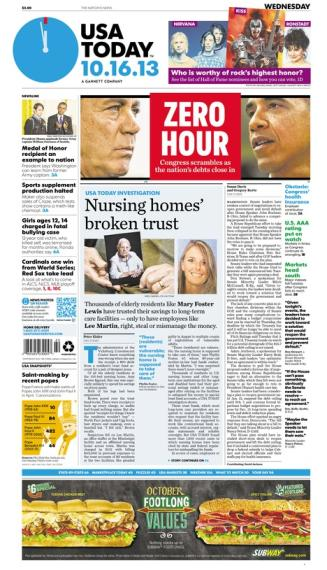 10/16/2013 Issue of USA TODAY MAIN