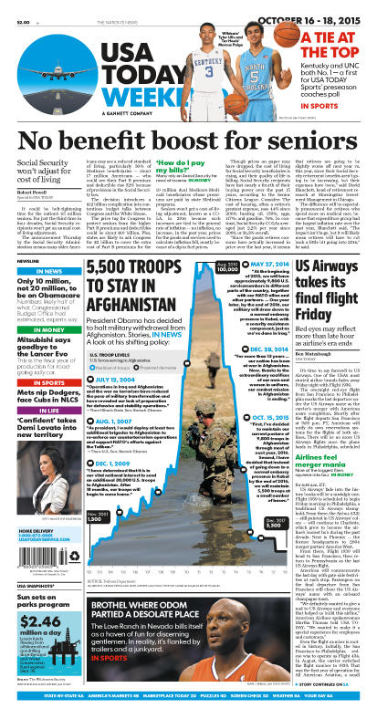 10/16/2015 Issue of USA TODAY