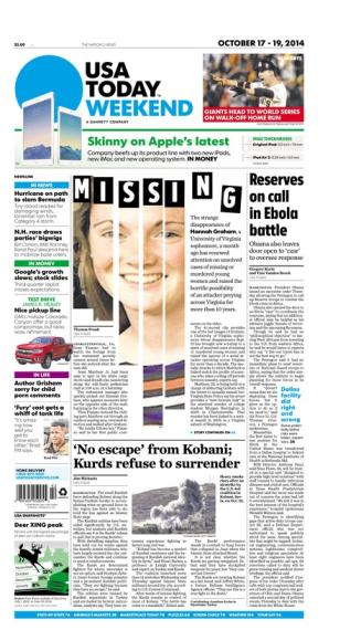 10/17/2014 Issue of USA TODAY