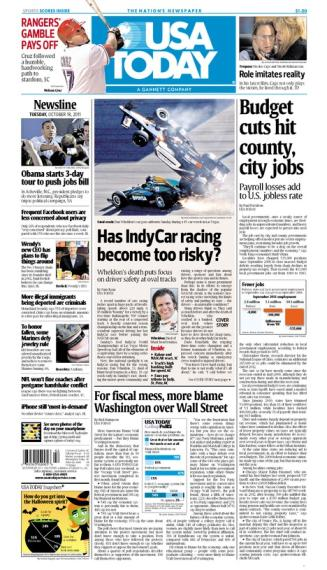 10/18/2011 Issue of USA TODAY