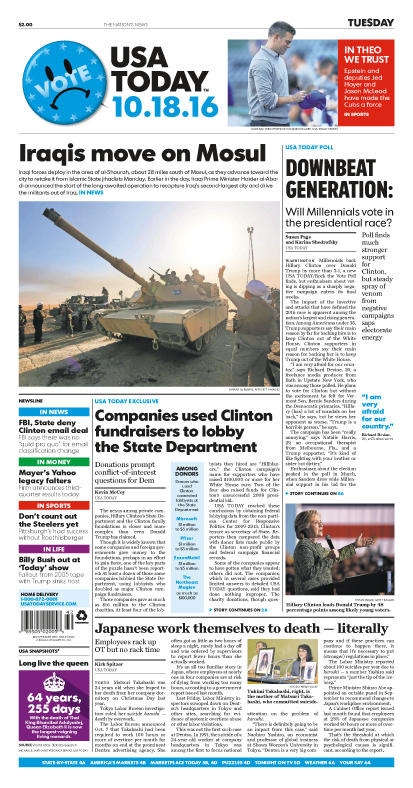 10/18/2016 Issue of USA TODAY
