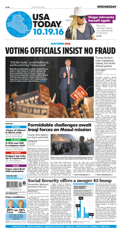 10/19/2016 Issue of USA TODAY