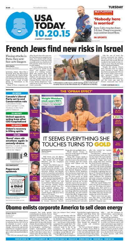 10/20/2015 Issue of USA TODAY