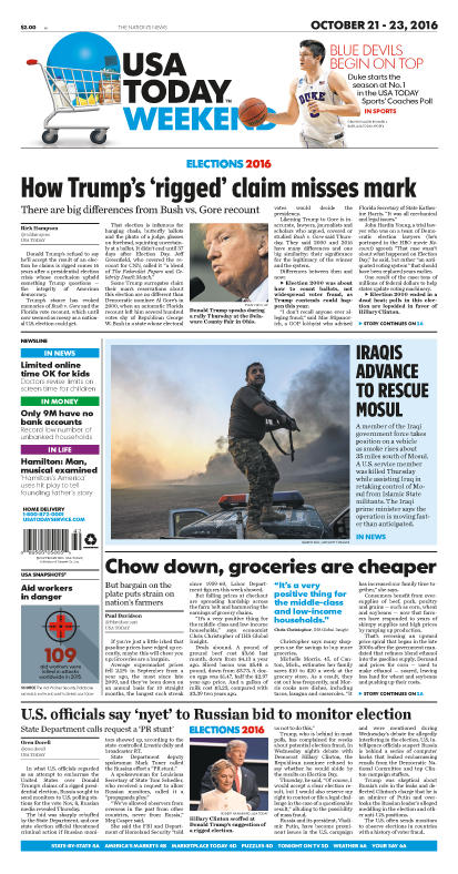 10/21/2016 Issue of USA TODAY
