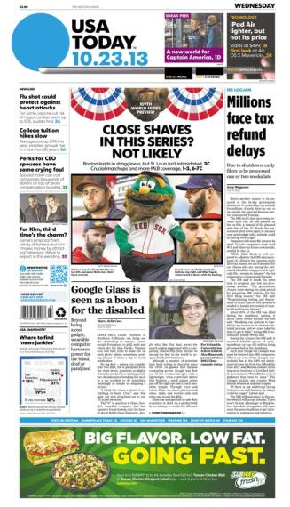 10/23/2013 Issue of USA TODAY