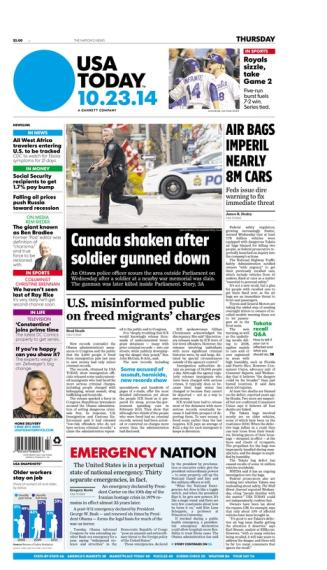 10/23/2014 Issue of USA TODAY