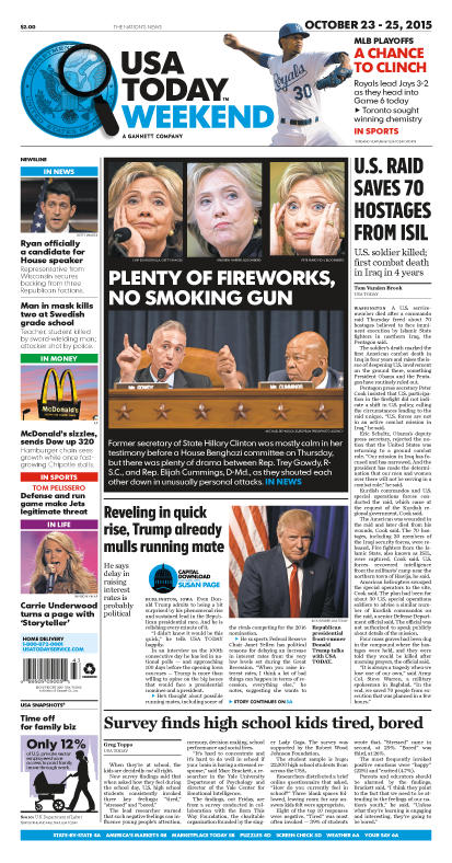 10/23/2015 Issue of USA TODAY