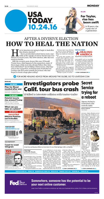 10/24/2016 Issue of USA TODAY