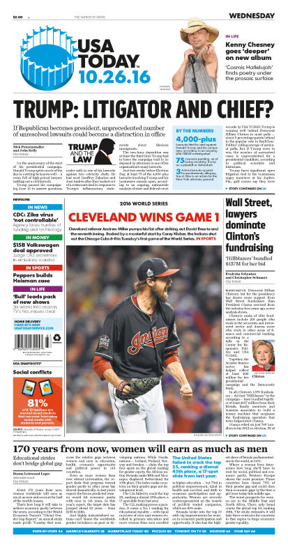 10/26/2016 Issue of USA TODAY