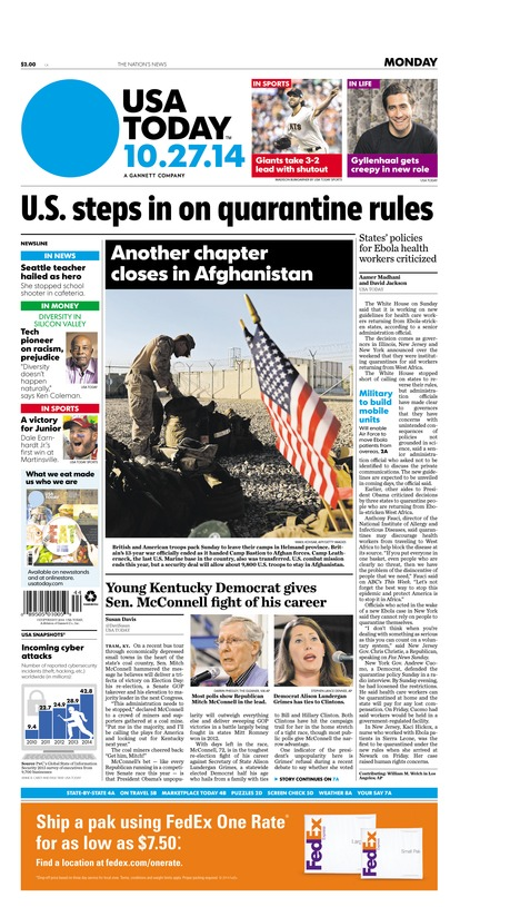 10/27/2014 Issue of USA TODAY