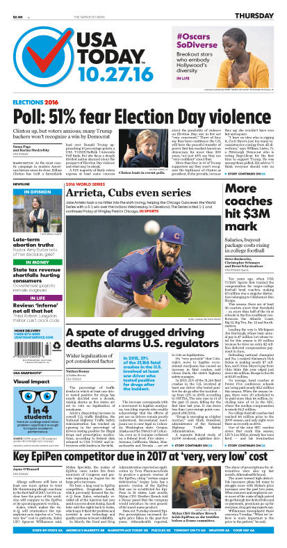 10/27/2016 Issue of USA TODAY