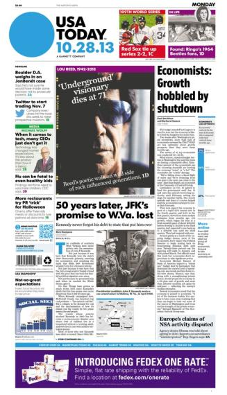 10/28/2013 Issue of USA TODAY