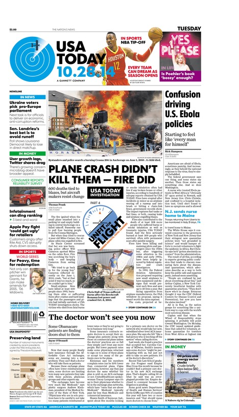 10/28/2014 Issue of USA TODAY
