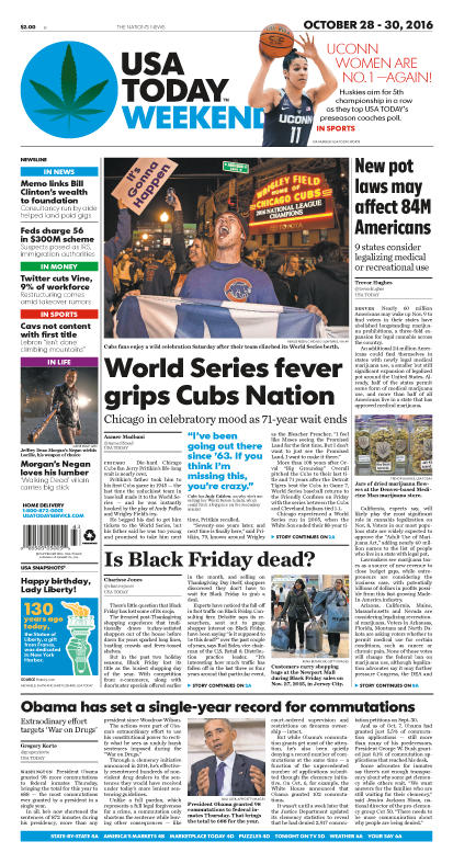 10/28/2016 Issue of USA TODAY