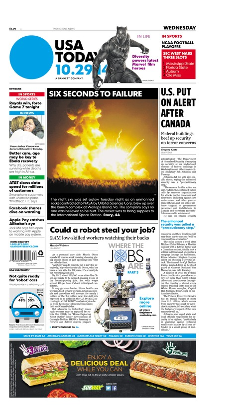 10/29/2014 Issue of USA TODAY