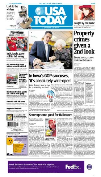 10/31/2011 Issue of USA TODAY