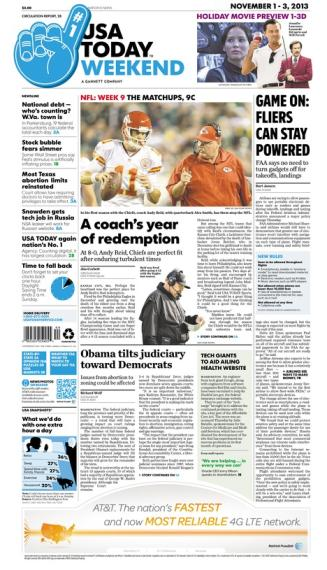 11/01/2013 Issue of USA TODAY