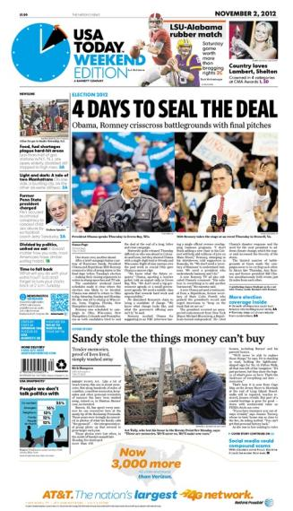 11/02/2012 Issue of USA TODAY