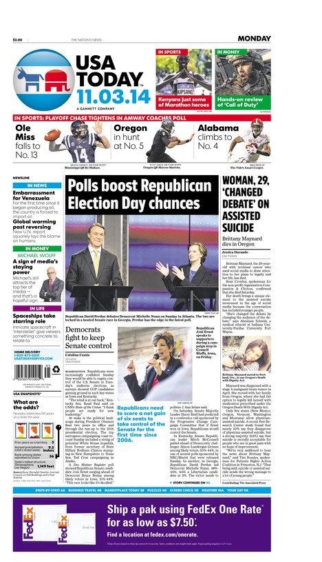 11/03/2014 Issue of USA TODAY