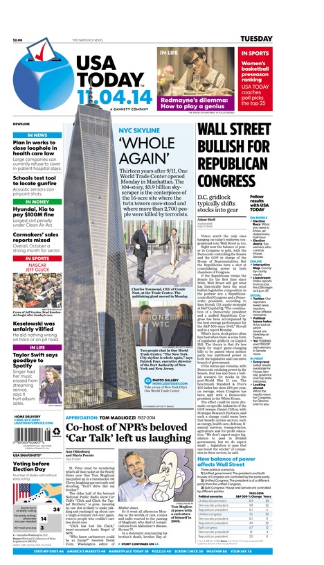 11/04/2014 Issue of USA TODAY