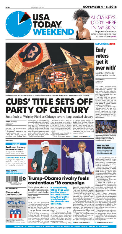 11/04/2016 Issue of USA TODAY