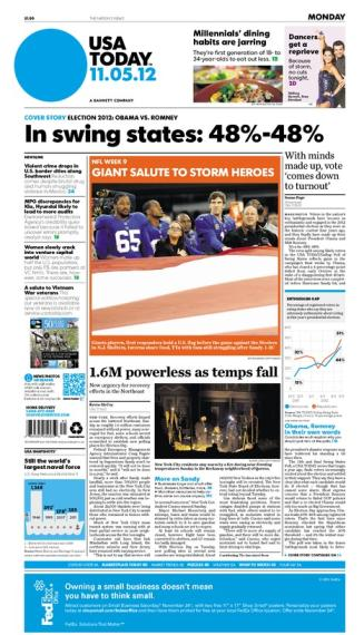 11/05/2012 Issue of USA TODAY