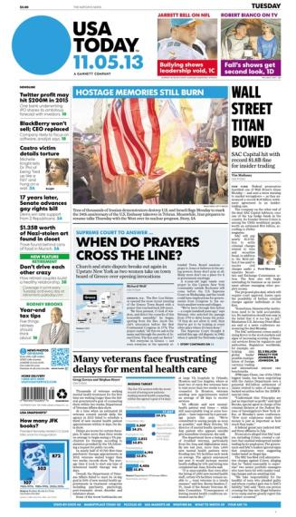 11/05/2013 Issue of USA TODAY