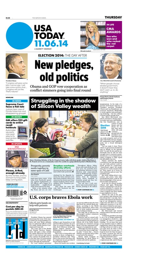 11/06/2014 Issue of USA TODAY