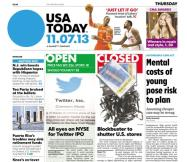 11/07/2013 Issue of USA TODAY