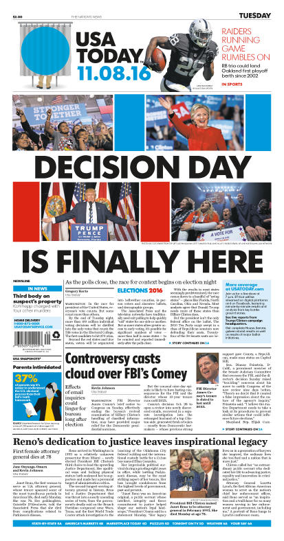 11/08/2016 Issue of USA TODAY